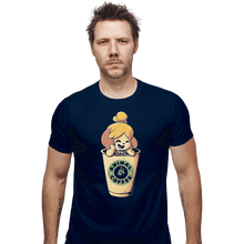 Load image into Gallery viewer, Shirts Fitted Shirts, Mens / Small / Navy Animal Coffee
