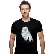 Load image into Gallery viewer, Shirts Fitted Shirts, Mens / Small / Black Magical Owl