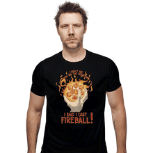 Load image into Gallery viewer, Shirts Fitted Shirts, Mens / Small / Black I Cast Fireball