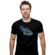 Load image into Gallery viewer, Shirts Fitted Shirts, Mens / Small / Black Lyanna's Feather