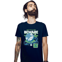 Load image into Gallery viewer, Shirts Fitted Shirts, Mens / Small / Navy Beware Of Chomp Chomp