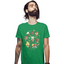 Load image into Gallery viewer, Shirts Fitted Shirts, Mens / Small / Irish Green Tarantula Island