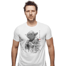 Load image into Gallery viewer, Shirts Fitted Shirts, Mens / Small / White Old And Young Sumi-e