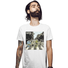 Load image into Gallery viewer, Shirts Fitted Shirts, Mens / Small / White Flabby Road