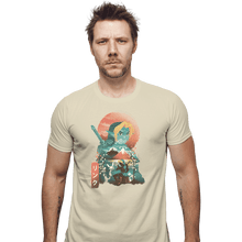 Load image into Gallery viewer, Shirts Fitted Shirts, Mens / Small / Sand Ukiyo Ocarina