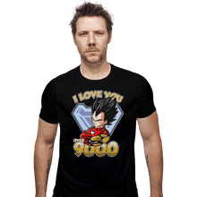 Load image into Gallery viewer, Shirts Fitted Shirts, Mens / Small / Black I Love You Over 9000
