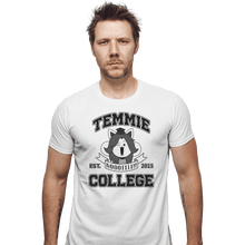Load image into Gallery viewer, Shirts Fitted Shirts, Mens / Small / White Temmie College