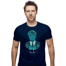 Load image into Gallery viewer, Shirts Fitted Shirts, Mens / Small / Navy The Leader