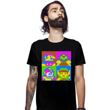Load image into Gallery viewer, Shirts Fitted Shirts, Mens / Small / Black Pop NES