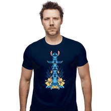 Load image into Gallery viewer, Shirts Fitted Shirts, Mens / Small / Navy Alien Mood Totem