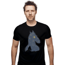 Load image into Gallery viewer, Shirts Fitted Shirts, Mens / Small / Black Hollywoo Starry Night