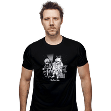 Load image into Gallery viewer, Shirts Fitted Shirts, Mens / Small / Black The Force Side