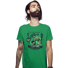 Load image into Gallery viewer, Shirts Fitted Shirts, Mens / Small / Irish Green The Green Bastard