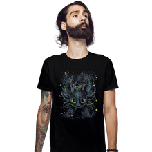 Load image into Gallery viewer, Shirts Fitted Shirts, Mens / Small / Black Fireflies