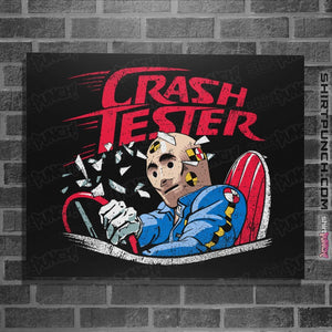 "Shirts Posters / 4""x6"" / Black Crash Tester"