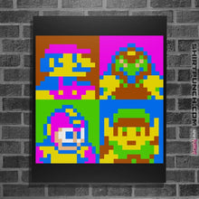 "Load image into Gallery viewer, Shirts Posters / 4""x6"" / Black Pop NES"