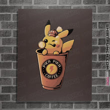 "Load image into Gallery viewer, Shirts Posters / 4""x6"" / Dark Chocolate Pika Pika Coffee"