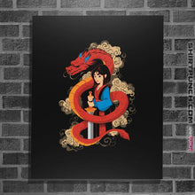 "Load image into Gallery viewer, Shirts Posters / 4""x6"" / Black Mulan And The Dragon"