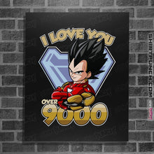 "Load image into Gallery viewer, Shirts Posters / 4""x6"" / Black I Love You Over 9000"