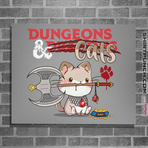 "Shirts Posters / 4""x6"" / Sports Grey Dungeons And Cats"