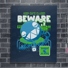"Load image into Gallery viewer, Shirts Posters / 4""x6"" / Navy Beware Of Chomp Chomp"