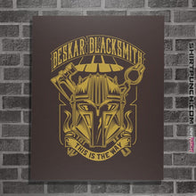 "Load image into Gallery viewer, Shirts Posters / 4""x6"" / Dark Chocolate Beskar Blacksmith"