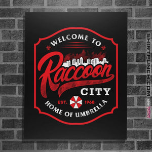 "Shirts Posters / 4""x6"" / Black Raccoon City"