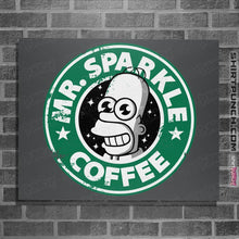 "Load image into Gallery viewer, Shirts Posters / 4""x6"" / Charcoal Mr. Sparkle Coffee"