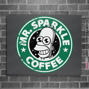 "Shirts Posters / 4""x6"" / Charcoal Mr. Sparkle Coffee"