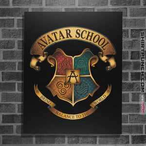 "Shirts Posters / 4""x6"" / Black Avatar School"