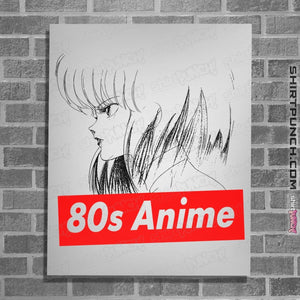 "Shirts Posters / 4""x6"" / White 80s Anime"