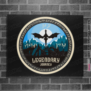 "Shirts Posters / 4""x6"" / Black Legendary Journey"