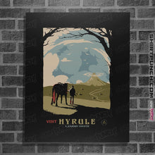 "Load image into Gallery viewer, Shirts Posters / 4""x6"" / Black Epona Visit Hyrule"