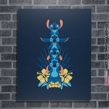"Load image into Gallery viewer, Shirts Posters / 4""x6"" / Navy Alien Mood Totem"