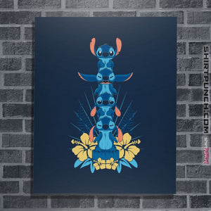 "Shirts Posters / 4""x6"" / Navy Alien Mood Totem"