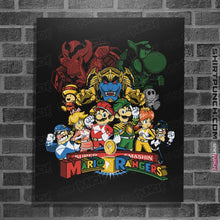 "Load image into Gallery viewer, Shirts Posters / 4""x6"" / Black Mushroom Rangers"
