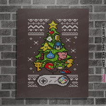 "Load image into Gallery viewer, Shirts Posters / 4""x6"" / Dark Chocolate A Classic Gamers Christmas"