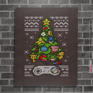 "Shirts Posters / 4""x6"" / Dark Chocolate A Classic Gamers Christmas"