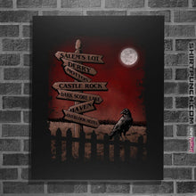 "Load image into Gallery viewer, Shirts Posters / 4""x6"" / Black Horror Crossroads"