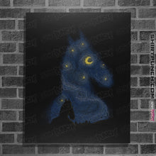 "Load image into Gallery viewer, Shirts Posters / 4""x6"" / Black Hollywoo Starry Night"