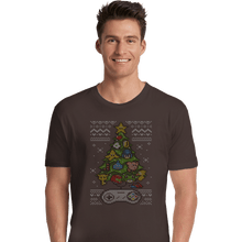 Load image into Gallery viewer, Shirts Premium Shirts, Unisex / Small / Dark Chocolate A Classic Gamers Christmas