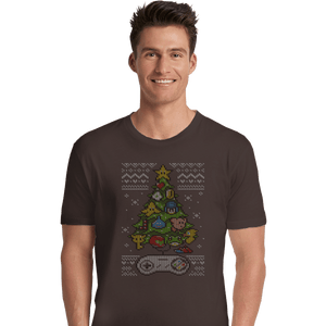 Shirts Premium Shirts, Unisex / Small / Dark Chocolate A Classic Gamers Christmas