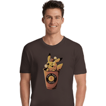 Load image into Gallery viewer, Shirts Premium Shirts, Unisex / Small / Dark Chocolate Pika Pika Coffee