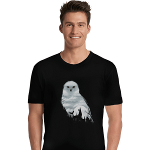 Shirts Premium Shirts, Unisex / Small / Black Magical Owl