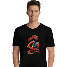 Load image into Gallery viewer, Shirts Premium Shirts, Unisex / Small / Black Mulan And The Dragon