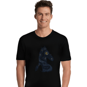Shirts Premium Shirts, Unisex / Small / Black Hollywoo Starry Night