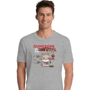 Shirts Premium Shirts, Unisex / Small / Sports Grey Dungeons And Cats
