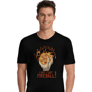 Shirts Premium Shirts, Unisex / Small / Black I Cast Fireball