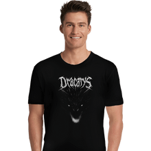 Load image into Gallery viewer, Shirts Premium Shirts, Unisex / Small / Black Dracarys Metal