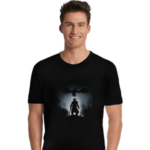 Shirts Premium Shirts, Unisex / Small / Black Skyrim Dragon Hunting